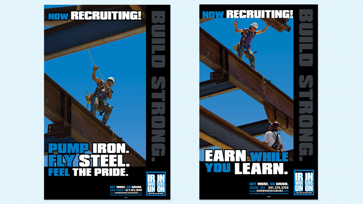 DeMeo Graphics design samples — Ironworkers Union